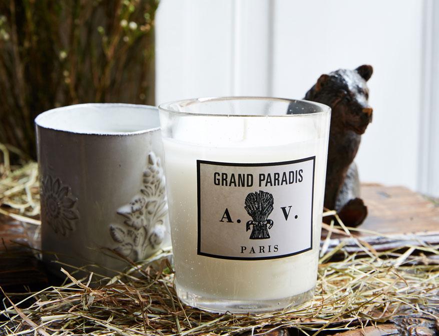 Die Duftkerze Grand Paradis im Glas von Astier de Villatte ©Stephen Johnson