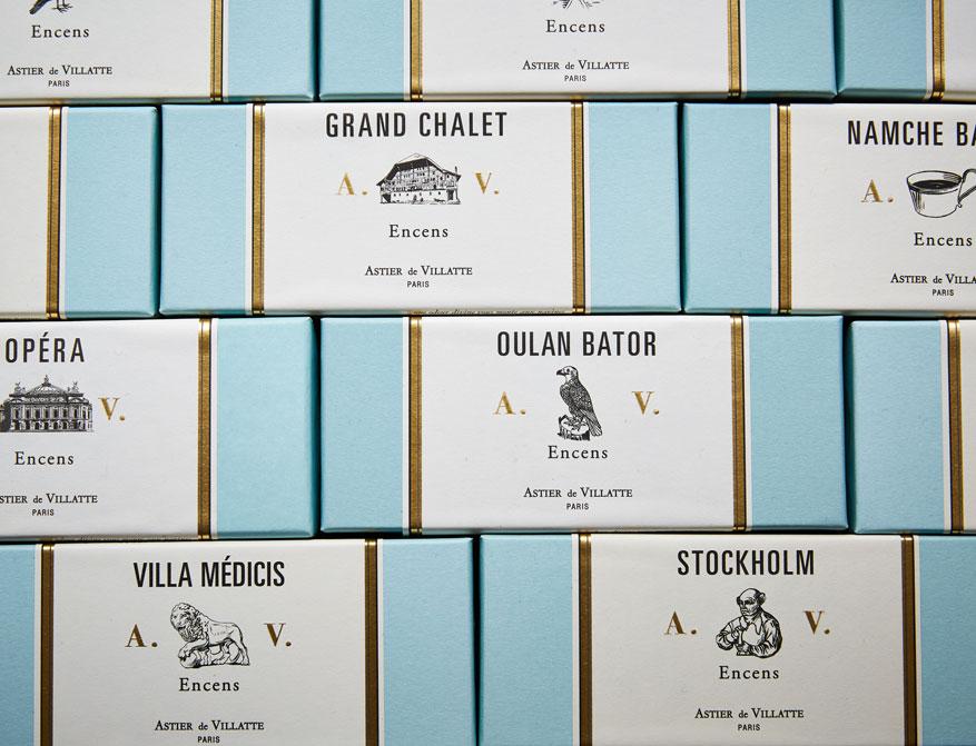Räucherstäbchen Stockholm, Grand Chalet, Villa Medicis, Oulan Bator und Opéra von Astier de Villatte