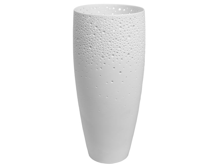 Die Korallenvase aus weißem Biskuitporzellan von Ted Muehling für die Porzellanmanufaktur Nymphenburg