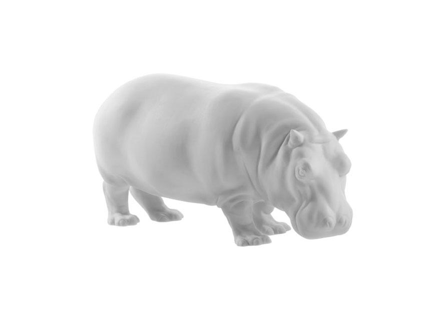 Das Nilpferd Mathilda aus Bilkuitporzellan von Porzellan Manufaktur Nymphenburg