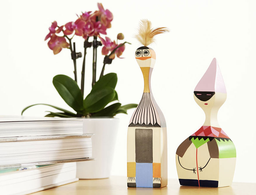 Wooden Dolls No. 1 und No. 6 von Alexander Girard