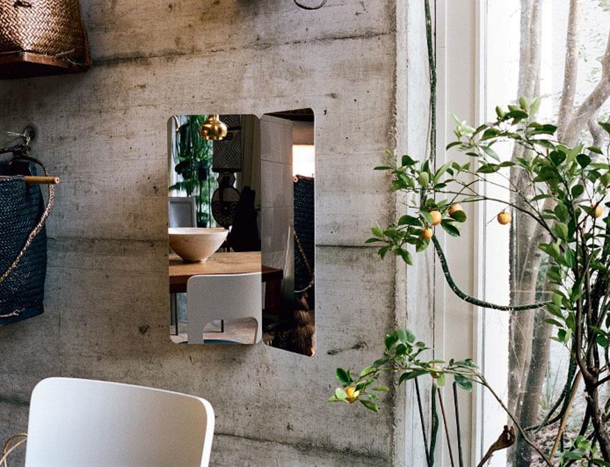 124° Spiegel aus hochglanzpoliertem Edelstahl von Daniel Rybakken