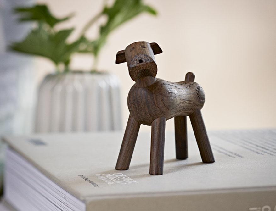 Hund Tim aus Walnussholz von Kay Bojesen