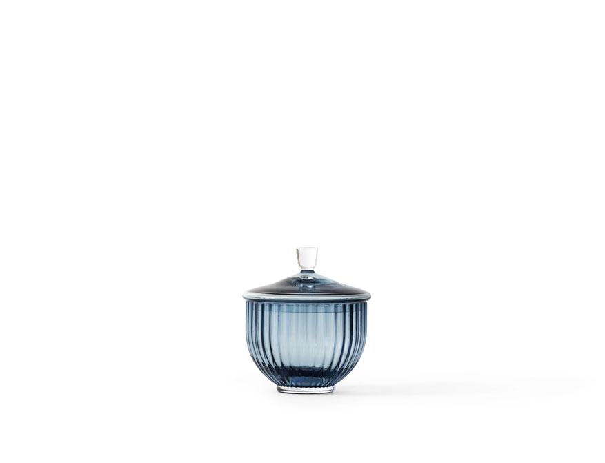 Bonbonniere in midnight blue und Glas von Lyngby
