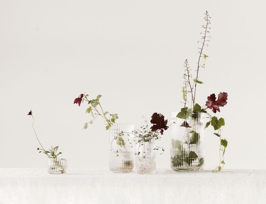 Vase oder Windlicht aus Klarglas in verschiedenen Größen von Lyngby