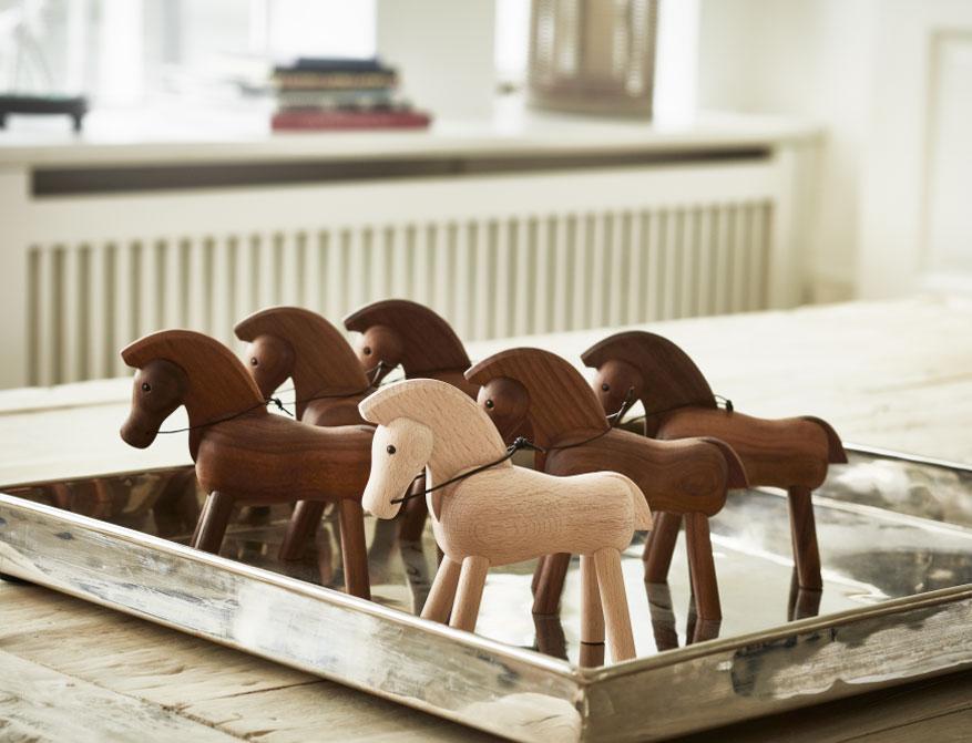 Pferd aus Walnuss und Eiche von Kay Bojesen