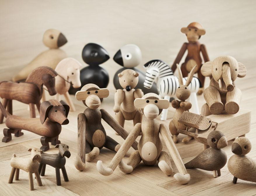 Verschiedene Holztiere von Kay Bojesen