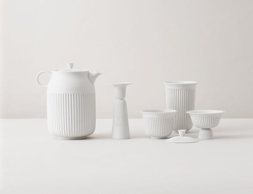 Tsé Kollektion aus Porzellan von Lyngby