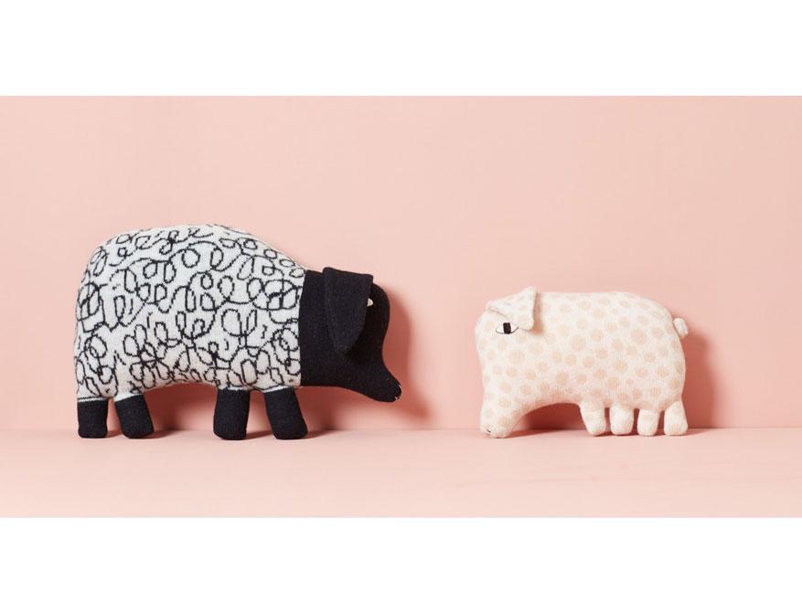 Die Stofftiere Woolma und Gus von Donna Wilson aus Großbritannien