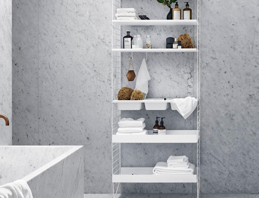 Bathroom Regalsystem von String Furniture in Ausführung weiß