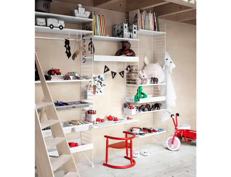 Bedroom Regalsystem von String Furniture in Ausführung weiß